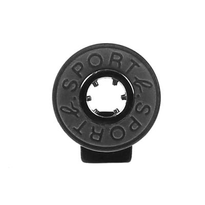 agnes b. - Sport b. 圓餅logo造型貼耳式單耳耳環(中性)(黑)