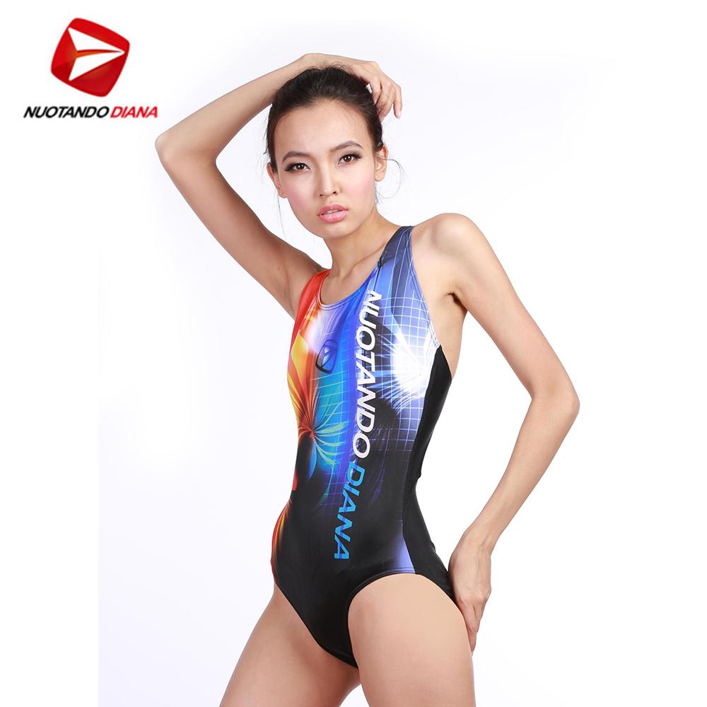 義大利DIANA 時尚連身泳裝 橘 N110012