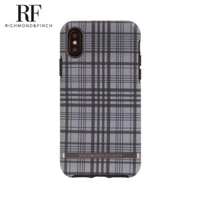 RF瑞典手機殼 啞光黑框-格紋 (iPhone X/Xs 5.8吋)