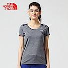 The North Face北面女款深灰色吸濕排汗戶外短袖T恤|3CHZDYZ