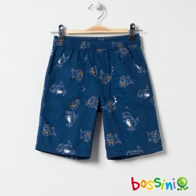 bossini男童-印花輕便短褲04綠松色