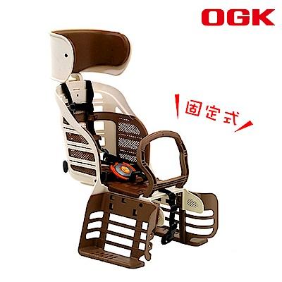 《OGK》自行車兒童後置安全座椅 固定式 象牙白 RBC-007DX3