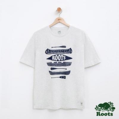 男裝Roots 露營短袖T恤-白