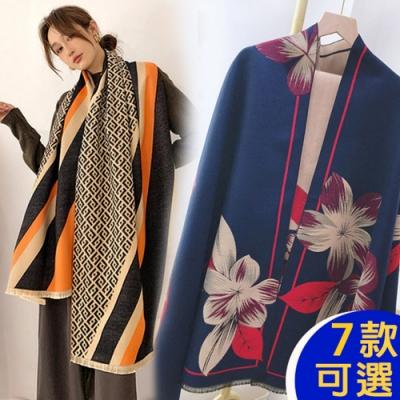 【韓國K.W.】(預購)獨家限時-精選素雅羊絨披肩圍巾組-共七款