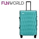 FUNWORLD 20吋鑽石系列鋁框行李箱-薄荷綠