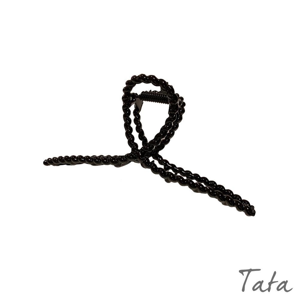 黑色編織造型鯊魚夾 TATA