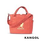 KANGOL 韓版玩色-帆布手提/斜背托特包-灰橘 AKG1216-41