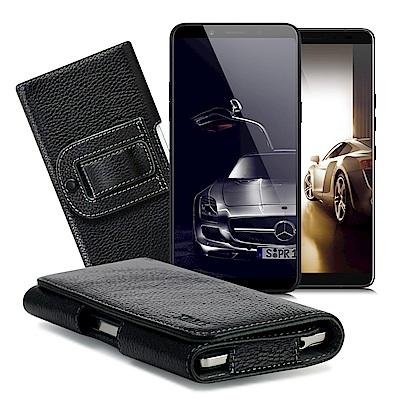 Xmart  HTC U12+ / OPPO A75s/ A73 麗緻真皮腰掛皮套