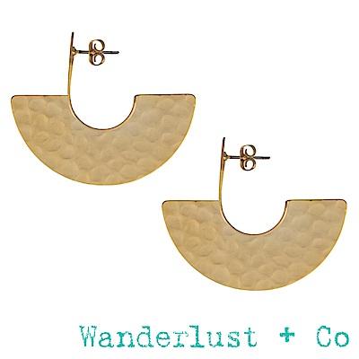 Wanderlust+Co Nia金色耳環