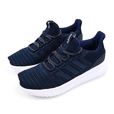 ADIDAS-CLOUDFOAM ULTIMATE女慢跑鞋-藍