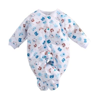 台灣製刷毛厚款嬰兒包腳連身衣 k61040 魔法Baby