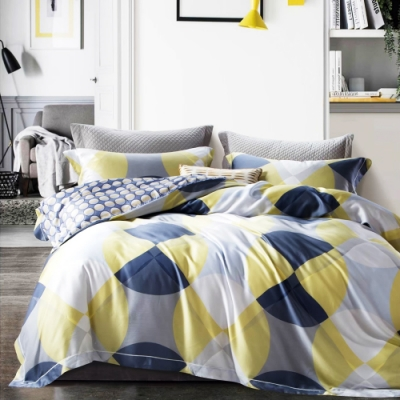 Saint Rose頂級精緻100%天絲床罩八件組(包覆高度35CM)-卡米拉 雙人