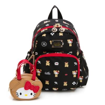 Hello Kitty聯名- 小童後背包 DEAR BEAR熊熊系列-黑色