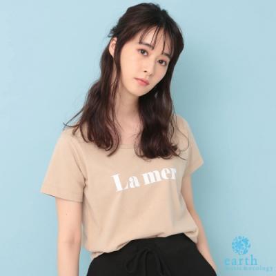 earth music Lamer簡約標語打印T恤