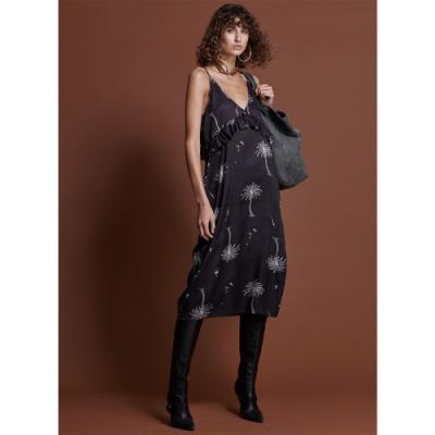 ONETEASPOON VALLEY RUFFLE DRESS 洋裝-女(黑)