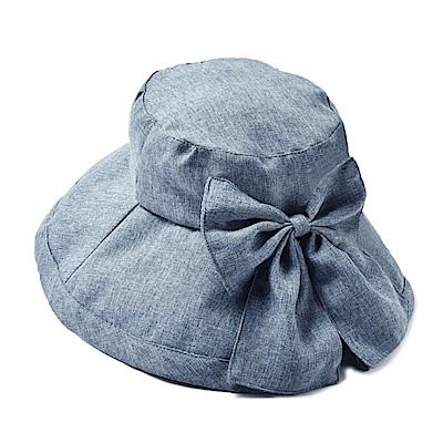 日本SHF 新一代丹寧風氣質蝴蝶結遮陽帽