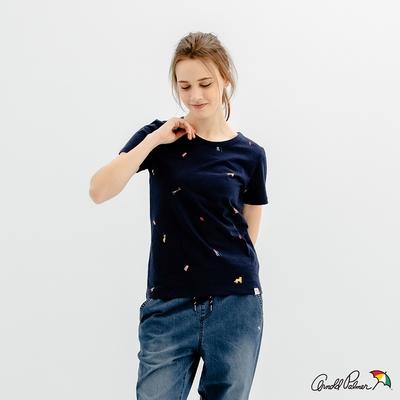 Arnold Palmer -女裝-60周年滿版主題印花T恤-深藍色
