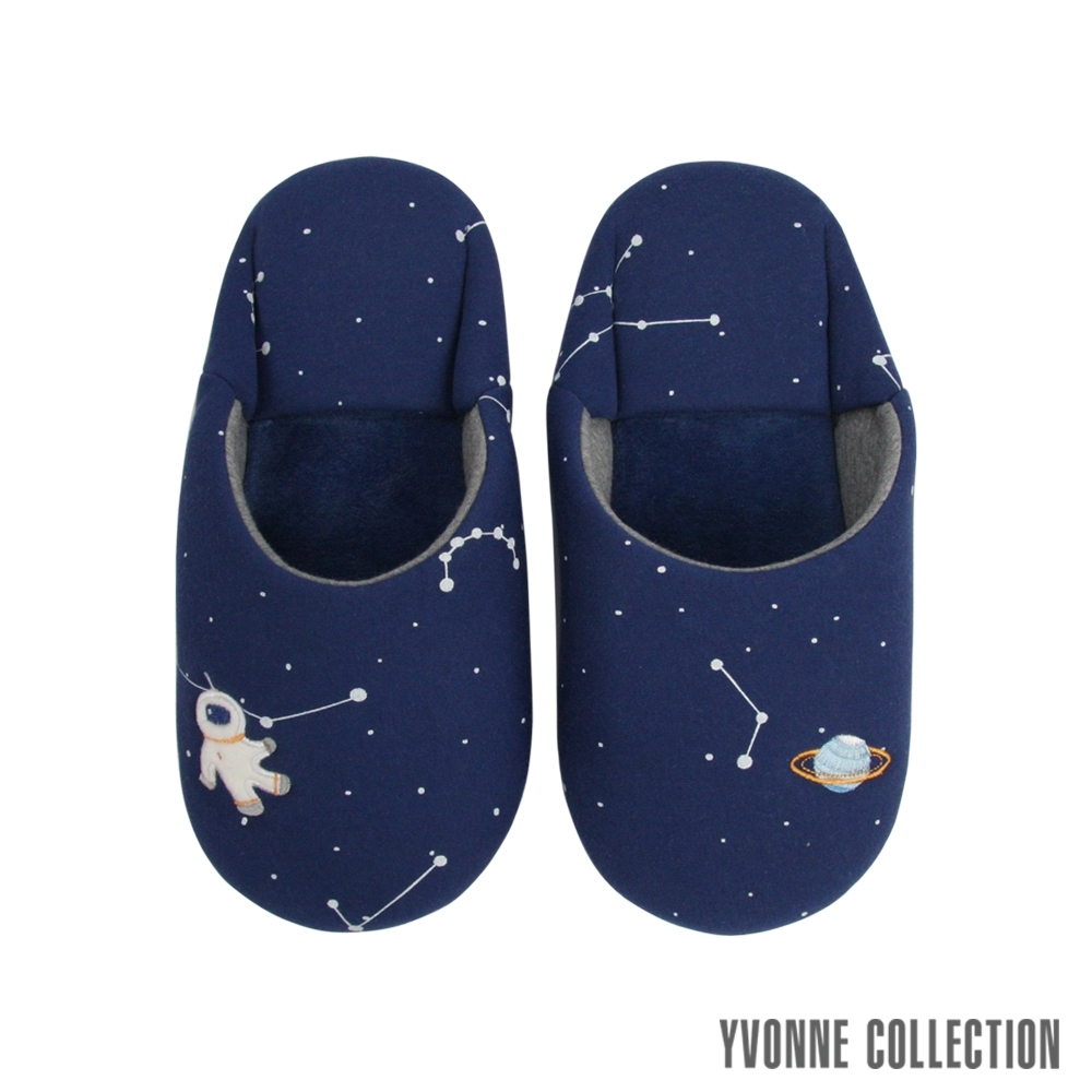 Yvonne Collection 星空日式拖鞋-深藍M