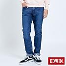 EDWIN JERSEYS 大尺碼 迦績 EJ2 超彈低腰窄管牛仔褲-男-拔洗藍