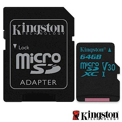 Kingston 金士頓 64G U3 microSDXC V30 記憶卡 SDCG2