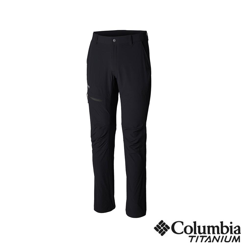 Columbia 哥倫比亞 男款-鈦UPF50防潑長褲-黑色 UAE06970BK