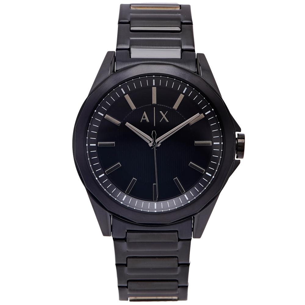 A/X ARMANI EXCHANGco 黑色時尚風手錶(AX2620)-黑面/43mm