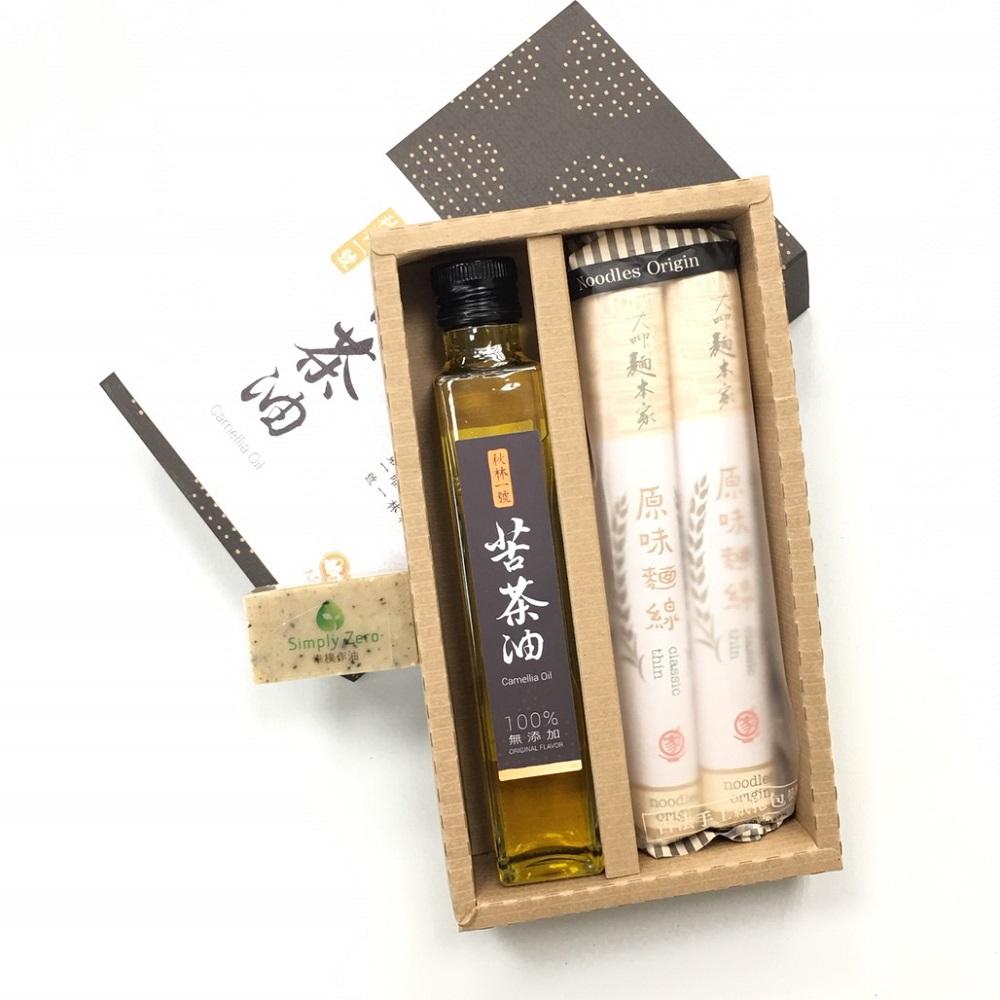 【幸樸作油】苦茶油與麵線禮盒組
