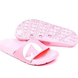 【AIRWALK】 防滑耐磨室內外拖鞋-淺粉