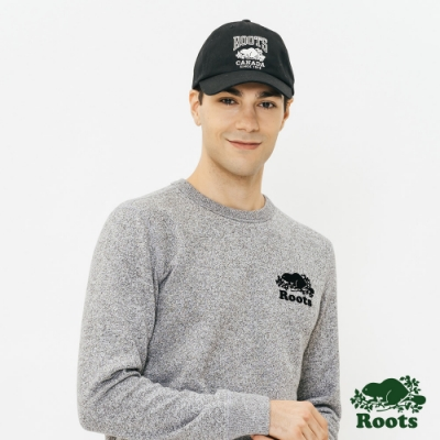 ROOTS 配件- 經典LOGO棒球帽-黑