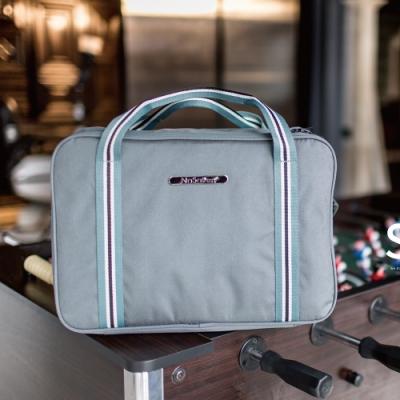 【NaSaDen】雪佛包 肩背/手提/穿套行李箱 相當一個16吋的行李箱(卡其藍)