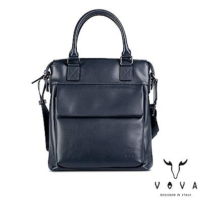 VOVA 公爵系列職人手提/斜背兩用包-爵士藍