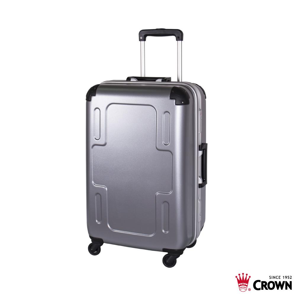 CROWN 皇冠 24吋 十字鋁框箱 行李箱 旅行箱 銀色 product image 1