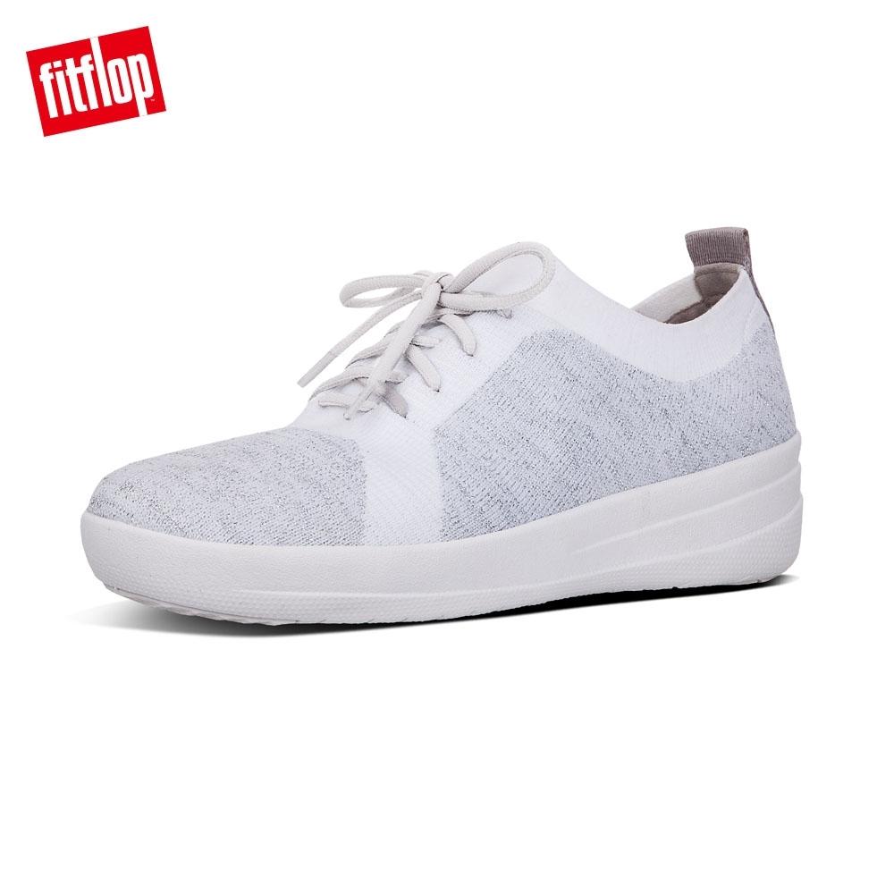FitFlop F-SPORTY ÜBERKNIT METALLIC 休閒鞋 白