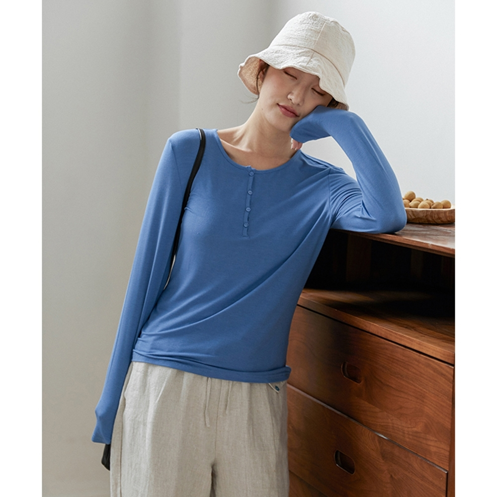 「玻尿酸Tee」嬰兒肌觸感T恤長袖短版上衣-設計所在