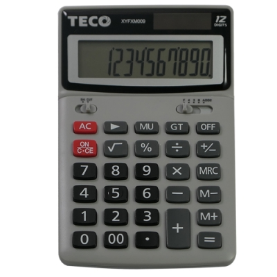 TECO東元桌上型12位元計算機 XYFXM009