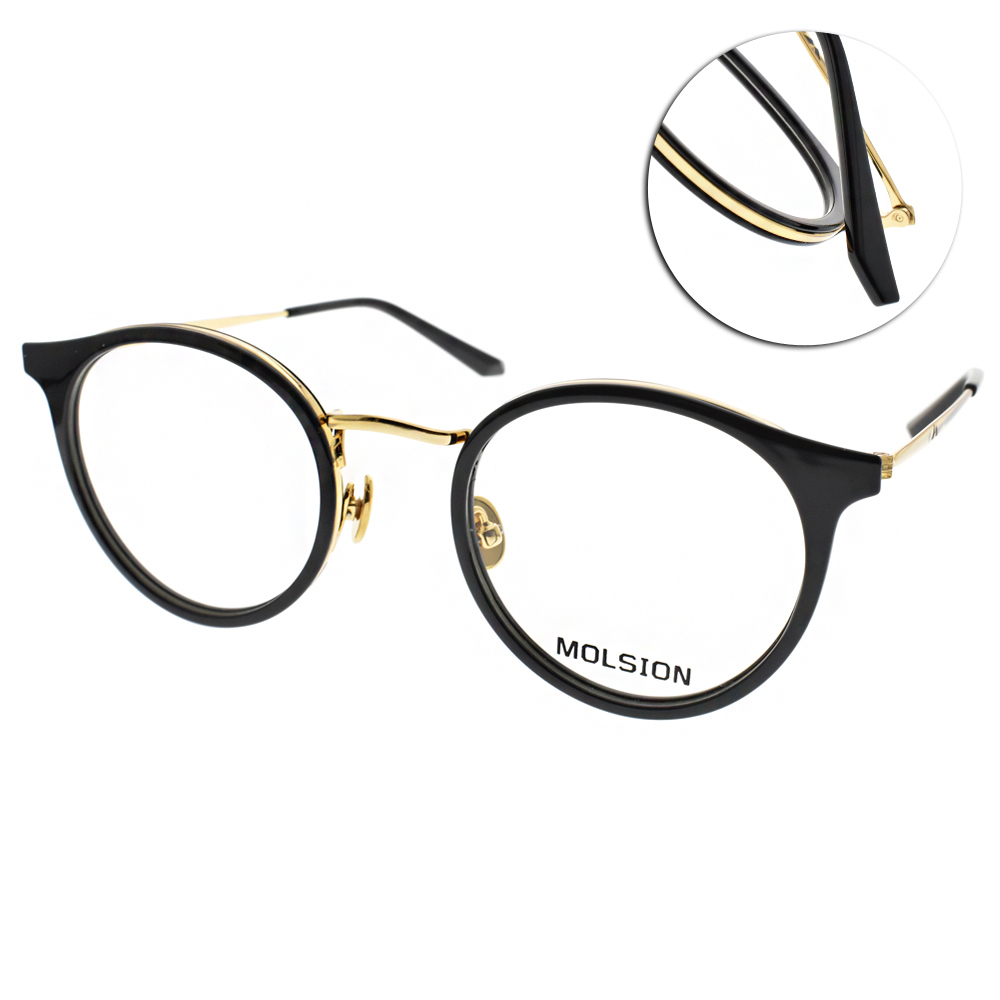 MOLSION光學眼鏡 Angelababy代言/黑-金#MJ6073 B10