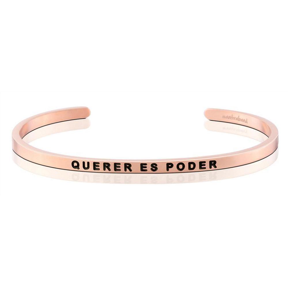 MANTRABAND Querer Es Poder 心想事成 玫瑰金手環 西班牙文版