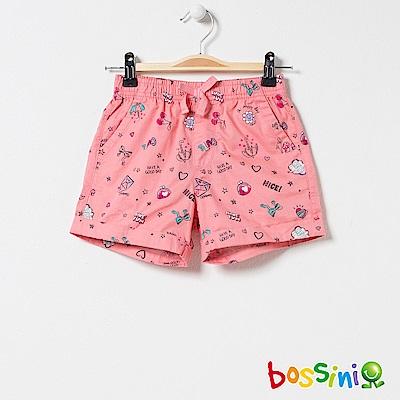 bossini女童-印花輕便短褲03橘紅