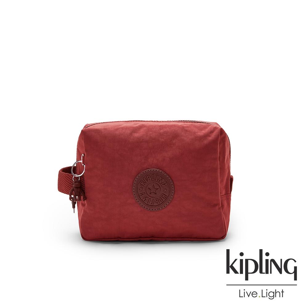 Kipling 微醺感胭脂紅方形配件包-PARAC