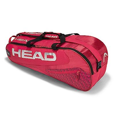 HEAD Elite Combi 6支裝球拍袋-紅 283448
