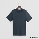 Hang Ten - 女裝 - 合身圓領素面T恤 -藍