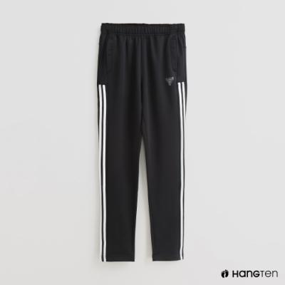 Hang Ten-童裝-側邊線條造型運動長褲-黑
