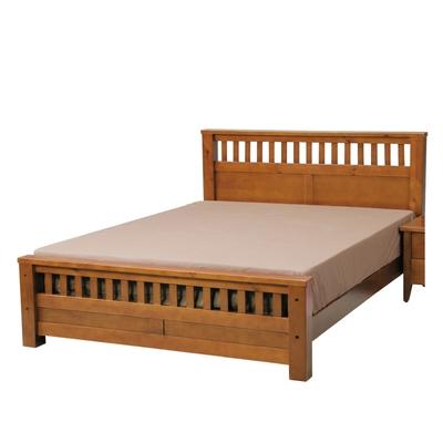 文創集 坎帕  現代5尺雙人實木床台(不含床墊)-156x206x97cm免組