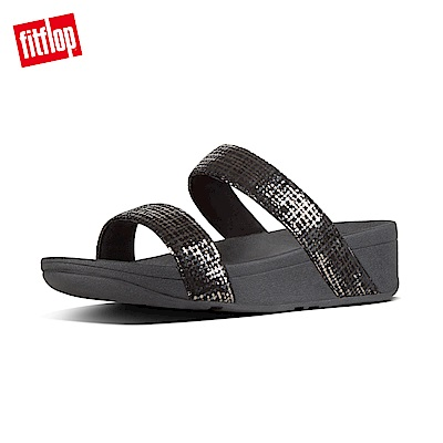 FitFlop CHAIN PRINT雙帶涼鞋黑色