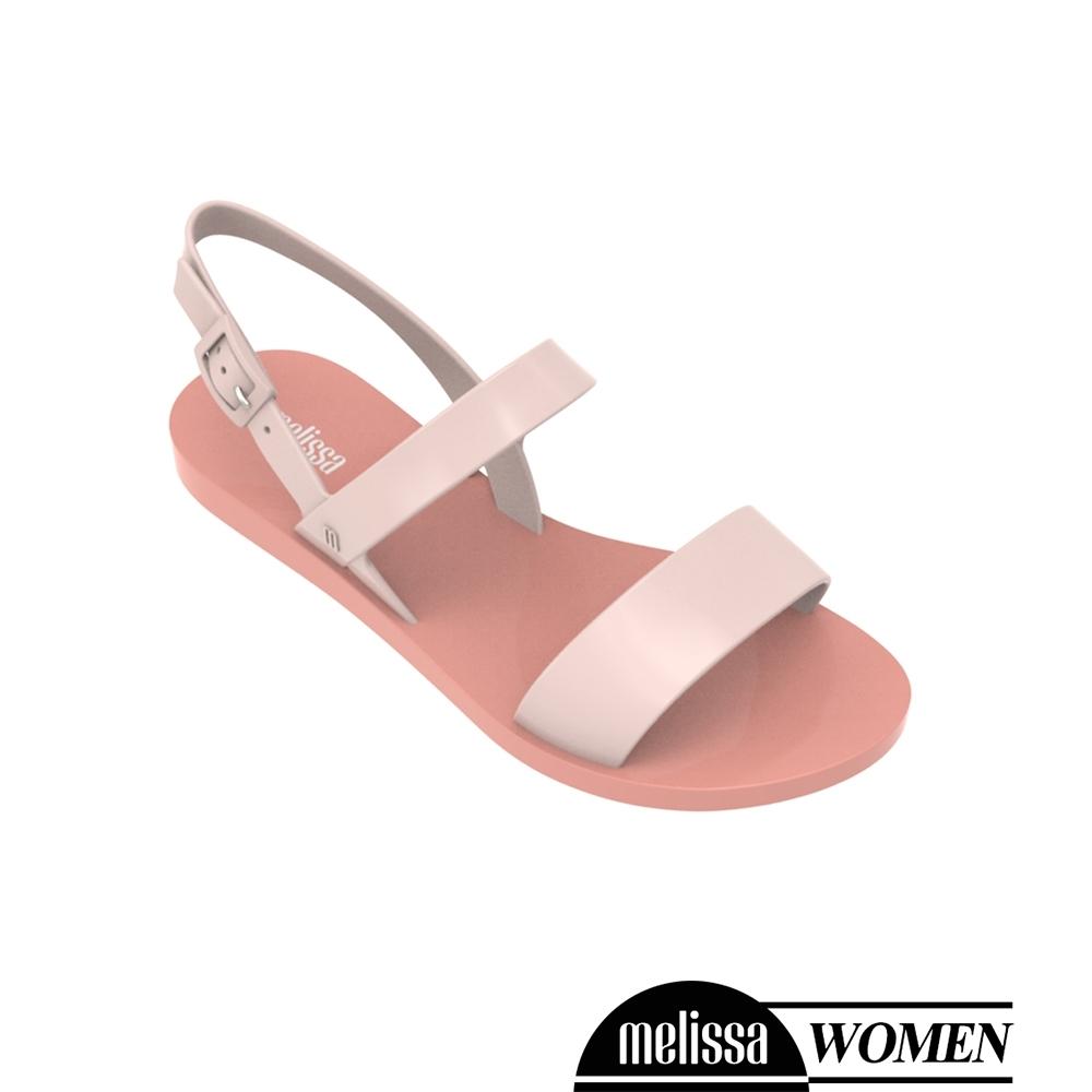 Melissa 經典撞色平底涼鞋-粉