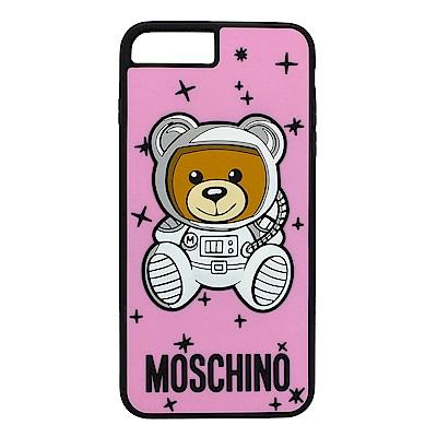 MOSCHINO 新款可愛外星太空熊 I Phone 8 Plus軟膠手機殼(粉紅)