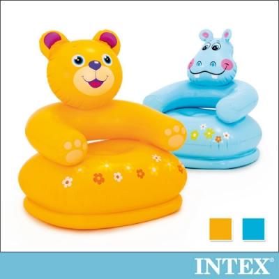 INTEX 可愛動物兒童充氣椅-花熊/河馬(68556)