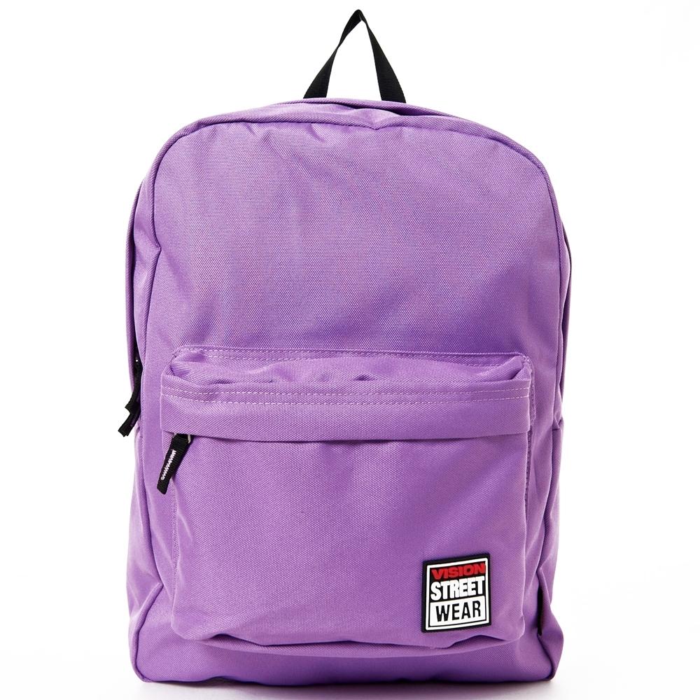 VISION STREET WEAR 潮牌時尚運動休閒雙肩後背包 紫 VB2032U
