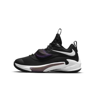NIKE Freak 3 (GS) 字母哥 大童籃球鞋-黑紫-DB4158001