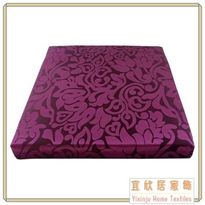 【宜欣居傢飾】艾馬仕-精緻緹花實木椅座墊6入(紫) 55*55*5cm 台灣製